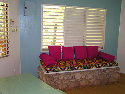 2 Bedroom Cottage - Bananas Garden 2 Bedroom Cottage living area Negril Jamaica Resorts and Hotels