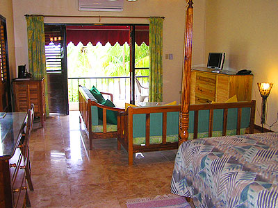 Jr. Suites - Upper Level - Charela Jr. Suite Interior - Negril Resorts and Hotels, Jamaica