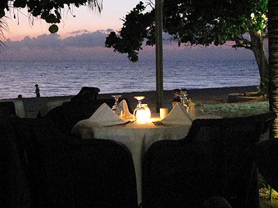 Chill Awhile Restaurant and Beach - Idle Awhile Chill Awhile Restaurant evening- Negril Jamaica hotels and resorts