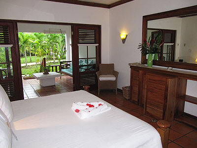 Garden Veranda Suite - Couples Swept Away Garden Suite Bedroom - Negril, Jamaica Resorts and Hotels