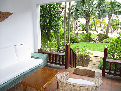 Verandah Suites (Garden, Ocean and Beach Front) - Couples Swept Away Garden Veranda Suite, Veranda - Negril, Jamaica Resorts and Hotels