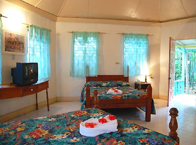 Ocean View Cottages - Samsara Hotel Sea Side Cottage Interior - Negril Jamaica Resorts and Hotels
