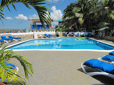 Pools, Sea entrances and Snorkeling - Samsara Hotel Pool - Negril, Jamaica, Negril Resorts and Hotels