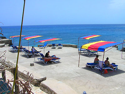 Pools, Sea entrances and Snorkeling - Samsara Hotel Sun Shades - Negril Jamaica Resorts and Hotels
