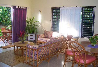 Other Side (2 Bedroom Duplex Villa) - SeaSand Eco Villas - Negril Jamaica Resorts and Hotels - Morning Side - Living Room