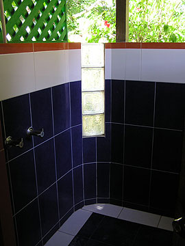 Cottages #5 - Xtabi Cottage #5 shower,Negril Jamaica Resorts and Hotels