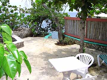 Cottages #5 - Xtabi Cottage #5 back deck, Negril Jamaica Resorts and Hotels