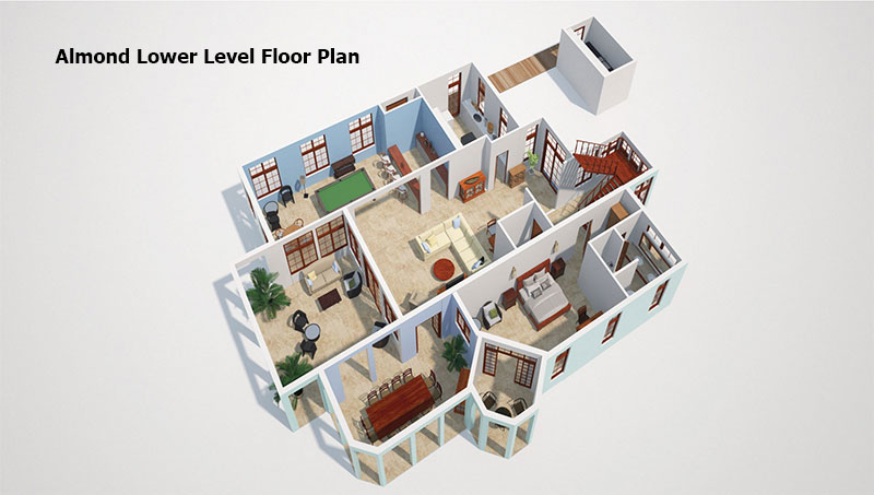 Almond lower level Floor Plan