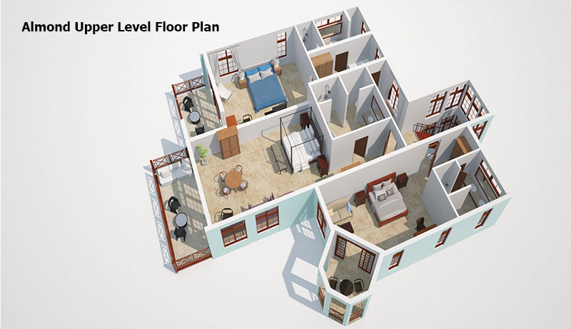 Almond upper level Floor Plan