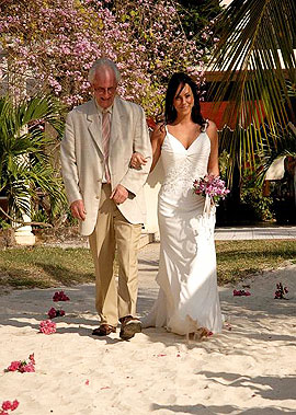 Charela Wedding Dad And Daughter Walking Together