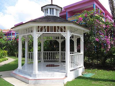Coco La Palm Wedding Gazebo Front View