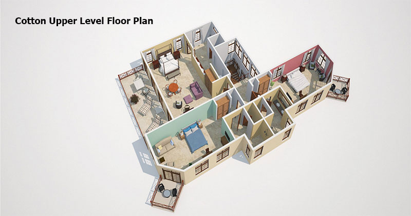 Cotton Upper level Floor Plan