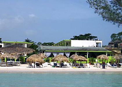 Fun Holiday Beach Resort Negril Jamaica View From Sea.JPG