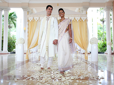 Grand Palladium Lady Hamilton Wedding Byahh Baraat Couple in the Aisle Beautiful Byahh: The Baraat and Wedding Ceremony