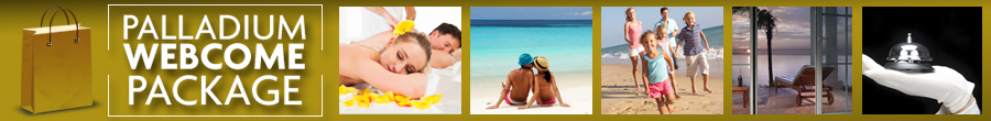 Grand Palladium Webcome Package Banner Included with stay: