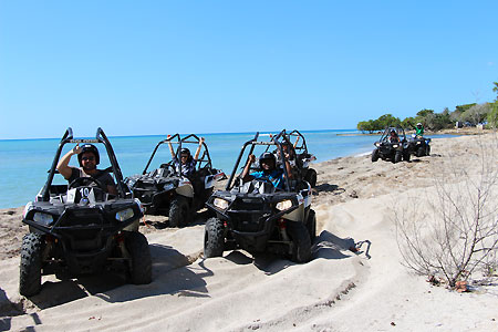 Jam West ATV group drivers beach