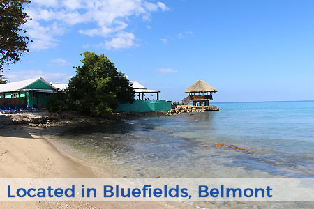 Luna Sea Inn Jamaica Beach to Tiki Text