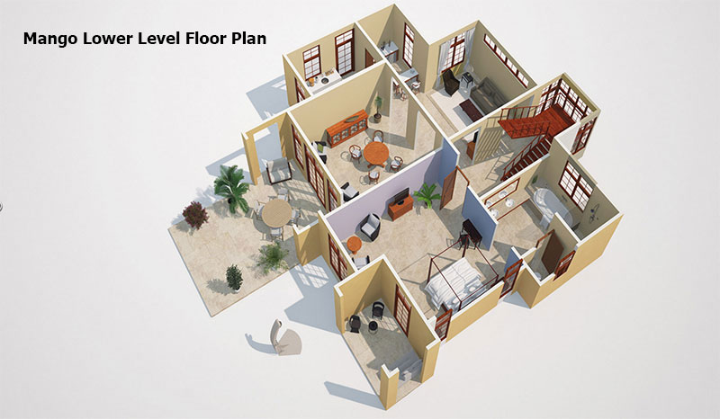 Mango ground level Floor Plan