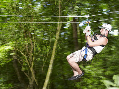 Mystic Mountain Adventure Tours Man in Motion Zipline Adventure