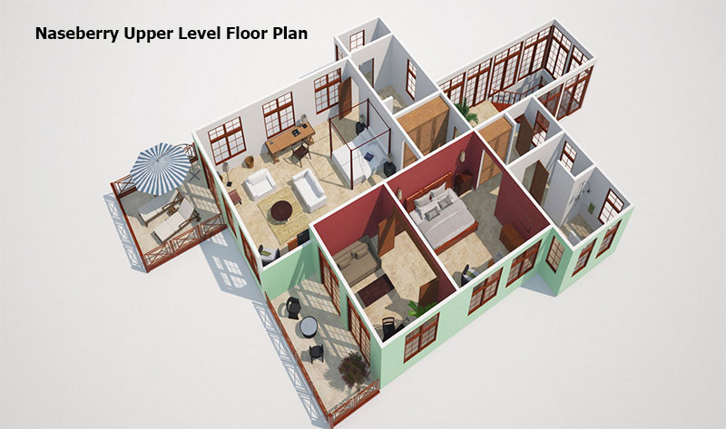 Naseberry Upper level Floor Plan