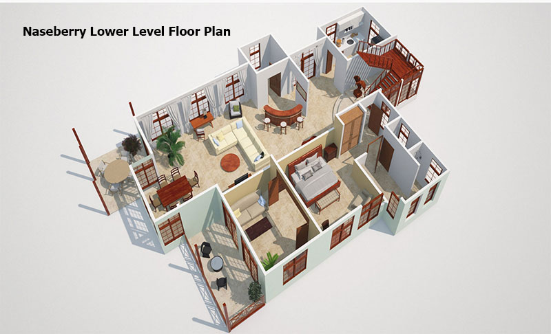 Naseberry lower level Floor PLan