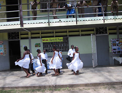 Orange Bay Tour Church Hill Primary Performance To The Tourists