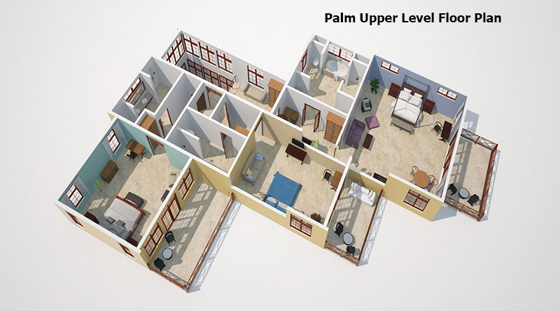 Palm Upper level Floor Plan