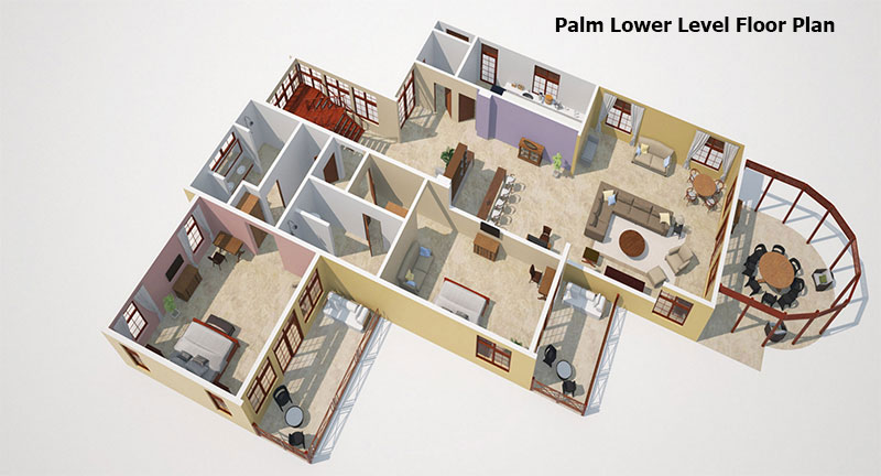 Palm lower level Floor Plan