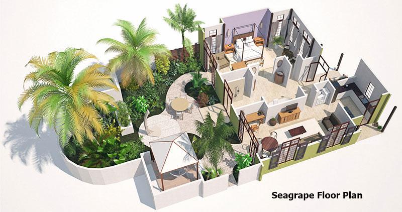Seagrape Villa Floor Plan