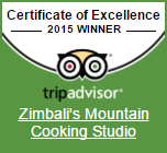 Zimbali Retreat Cooking Studio TripAdvisor Certificate of Excallence 2015 Zimbali Retreat's Mountain Cooking Studio